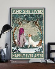 Jack Russell Happily Ever After Pink 11x17 Poster lifestyle-poster-2