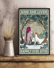 Jack Russell Happily Ever After Pink 11x17 Poster lifestyle-poster-3