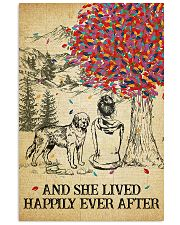 St Bernard She Lived Happily 11x17 Poster front