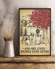 St Bernard She Lived Happily 11x17 Poster lifestyle-poster-3