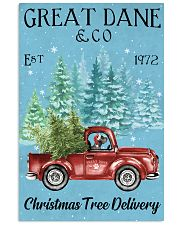 Great Dane Christmas Tree Delivery 11x17 Poster front