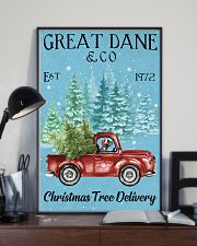 Great Dane Christmas Tree Delivery 11x17 Poster lifestyle-poster-2