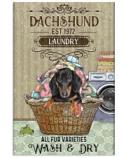 Dachshund Wash And Dry 11x17 Poster front
