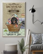 Dachshund Wash And Dry 11x17 Poster lifestyle-poster-1