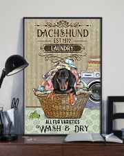 Dachshund Wash And Dry 11x17 Poster lifestyle-poster-2