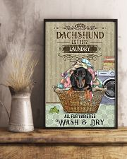 Dachshund Wash And Dry 11x17 Poster lifestyle-poster-3