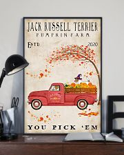 Jack Russell pumpkin farm 11x17 Poster lifestyle-poster-2