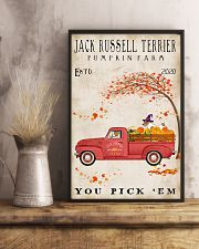 Jack Russell pumpkin farm 11x17 Poster lifestyle-poster-3