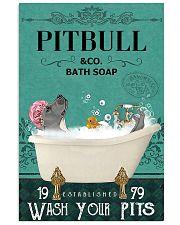 pitbull bath soap 11x17 Poster front