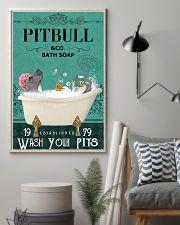 pitbull bath soap 11x17 Poster lifestyle-poster-1