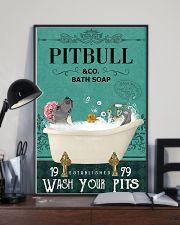 pitbull bath soap 11x17 Poster lifestyle-poster-2