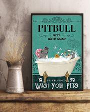 pitbull bath soap 11x17 Poster lifestyle-poster-3
