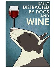 Dog Bull Terrier And Wine 11x17 Poster front