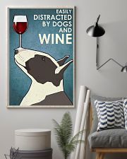 Dog Bull Terrier And Wine 11x17 Poster lifestyle-poster-1
