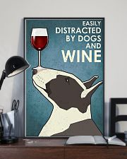 Dog Bull Terrier And Wine 11x17 Poster lifestyle-poster-2