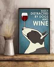 Dog Bull Terrier And Wine 11x17 Poster lifestyle-poster-3