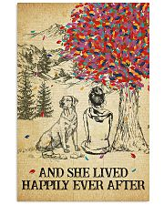 Labrador She Lived Happily 11x17 Poster front