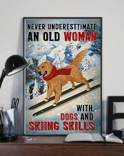 golden skiing skills 11x17 Poster lifestyle-poster-2