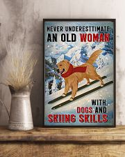 golden skiing skills 11x17 Poster lifestyle-poster-3