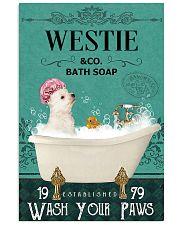 Westie bath soap 11x17 Poster front