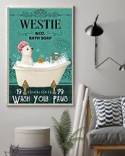 Westie bath soap 11x17 Poster lifestyle-poster-1