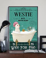 Westie bath soap 11x17 Poster lifestyle-poster-2
