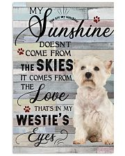 Westie Comes From The Love 11x17 Poster front