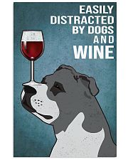 Staffordshire Bull Terrier And Wine 11x17 Poster front