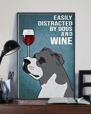 Staffordshire Bull Terrier And Wine 11x17 Poster lifestyle-poster-2