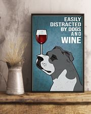 Staffordshire Bull Terrier And Wine 11x17 Poster lifestyle-poster-3