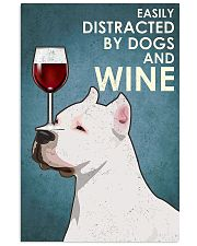 Dog American Pit Bull Terrier And Wine 11x17 Poster front
