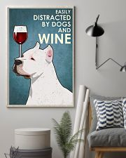 Dog American Pit Bull Terrier And Wine 11x17 Poster lifestyle-poster-1