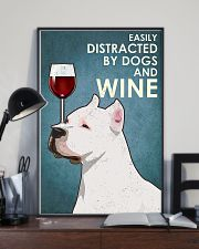 Dog American Pit Bull Terrier And Wine 11x17 Poster lifestyle-poster-2