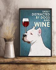 Dog American Pit Bull Terrier And Wine 11x17 Poster lifestyle-poster-3