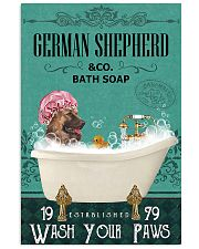 Dog German Shepherd Bath Soap 11x17 Poster front