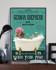 Dog German Shepherd Bath Soap 11x17 Poster lifestyle-poster-2