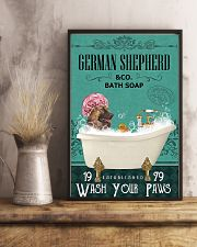 Dog German Shepherd Bath Soap 11x17 Poster lifestyle-poster-3