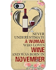 Wine A Woman November Phone Case i-phone-8-case