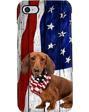 Red Doxie Usa Flag Phone Case i-phone-8-case