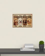 poodle alway be by your side 24x16 Poster poster-landscape-24x16-lifestyle-09