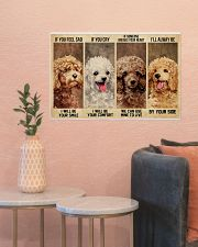poodle alway be by your side 24x16 Poster poster-landscape-24x16-lifestyle-22