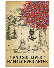 Havanese She Lived Happily 11x17 Poster front