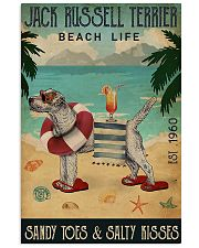 Jack Russell Beach Cocktail Life 11x17 Poster front