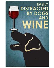 Dog Labrador and wine 11x17 Poster front
