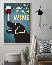 Dog Labrador and wine 11x17 Poster lifestyle-poster-1