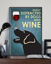 Dog Labrador and wine 11x17 Poster lifestyle-poster-2