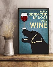 Dog Labrador and wine 11x17 Poster lifestyle-poster-3