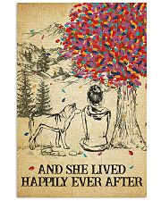 Akita She Lived Happily 11x17 Poster front