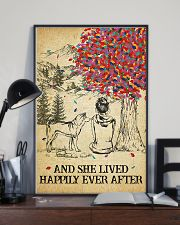 Akita She Lived Happily 11x17 Poster lifestyle-poster-2