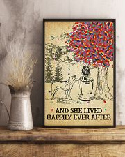 Akita She Lived Happily 11x17 Poster lifestyle-poster-3